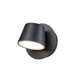 Italux Kuola MB1350-1 BK nástenné svietidlo LED 6W