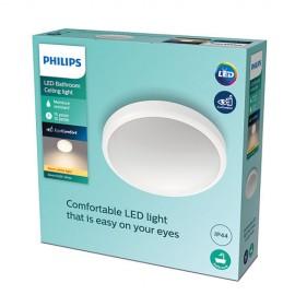 Philips Doris LED CL257 Stropné svietidlo do kúpeľne 17W/1500lm 313mm 2700K IP44 biela