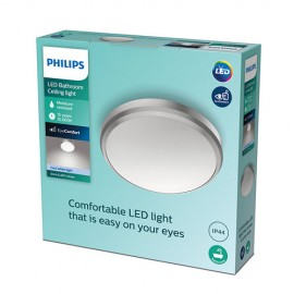Philips Doris LED CL257 svietidlo do kúpeľne 6W 640lm 220mm 4000K IP44 nikel