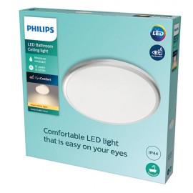 Philips Spray LED CL260 svietidlo do kúpeľne 17W 1500lm 377mm 2700K IP44 strieborná