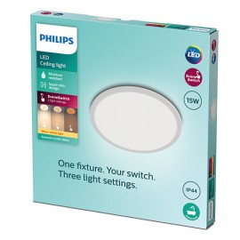 Philips CL550 8719514327184 Superslim CL550 stropné svietidlo LED D250mm 15W 1300lm 2700K IP44 SceneSwitch