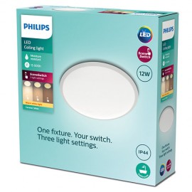 Philips 8719514326866 Cavanal stropné svietidlo LED D250mm 12W 1200lm 2700K IP44  SceneSwitch