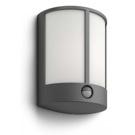 Svietidlo Philips 16465/93/16 Stock IR wall lantern anthracite 1x6W