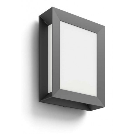 Svietidlo Philips 17293/93/16 Karp wall lantern anthracite 1x6W 230V