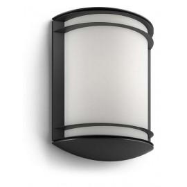 Philips 17320/30/P3 Antelope 4000K wall lantern black 1x6W