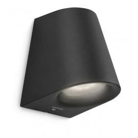 Philips 17287/30/16 Virga wall lantern black 1x3W SELV