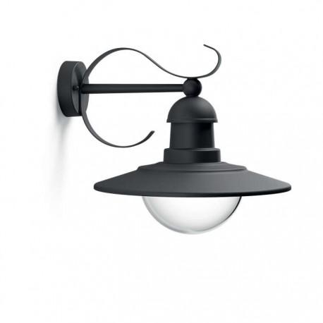 Svietidlo Philips 01816/30/PN Topiary wall lantern black 1x60W 230V