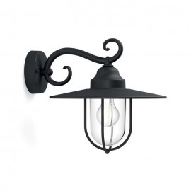 Svietidlo Philips 16270/30/PN Pasture wall lantern black 1x60W 230V
