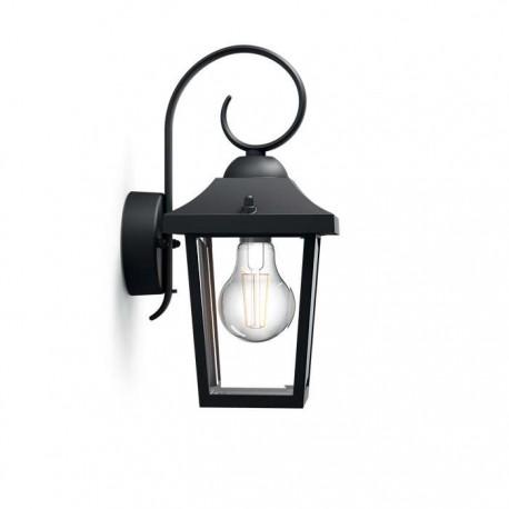 Svietidlo Philips 17236/30/PN Buzzard wall lantern black 1x60W 230V