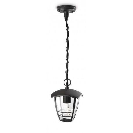 Svietidlo Philips 15386/30/16 Creek lantern pendant black 1x60W 230V