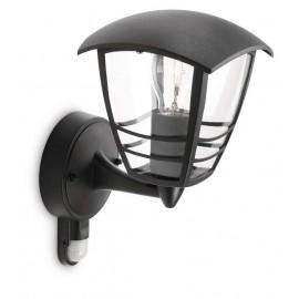 Svietidlo Philips 15388/30/16 Creek IR wall lantern black 1x60W 230V