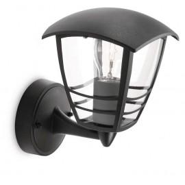 Svietidlo Philips 15380/30/16 Creek wall lantern black 1x60W 230V