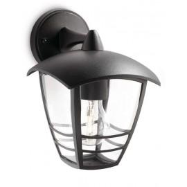 Svietidlo Philips 15381/30/16 Creek wall lantern black 1x60W 230V