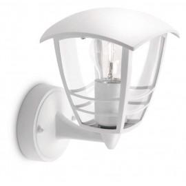 Svietidlo Philips 15380/31/16 Creek wall lantern white 1x60W 230V