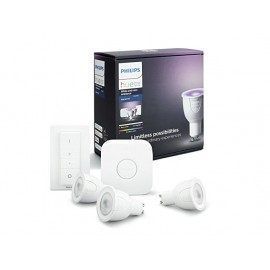 Set Philips Hue White and Color Ambiance 6,5W GU10 Starter kit + switch