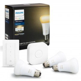 Set Philips Hue White Ambiance 9,5W E27 A19 starter kit + switch