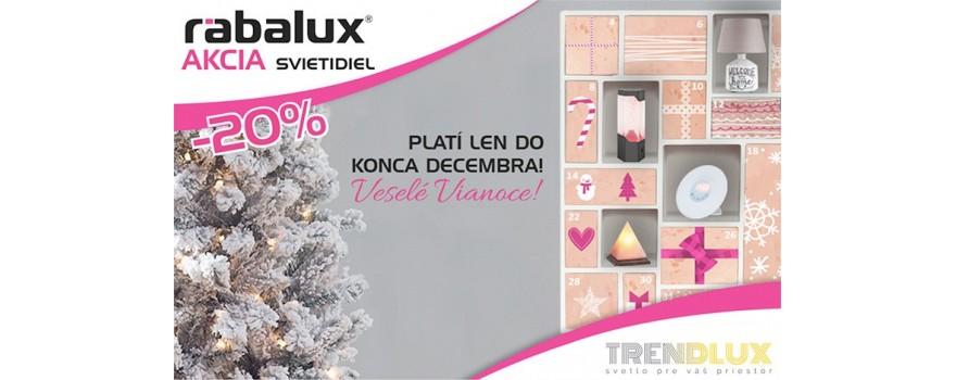 Decembrová akcia - Svietidlá Rabalux - 20%