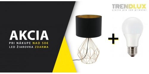 LED žiarovka E27 Zdarma !!!